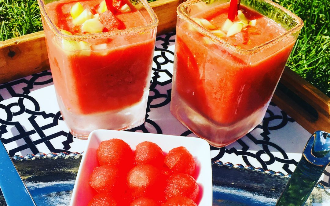 Watermelon Gazpacho with Red Chilies