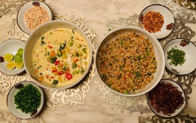 Khow Suey with Vegetable Rice By Asha Ranka