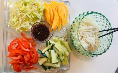 Bibim Guksu (Spicy Mixed Noodles) by Jina Kim