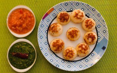 Kuli Paniyaram (Steamed lentil dumplings) by Sushma Kothari