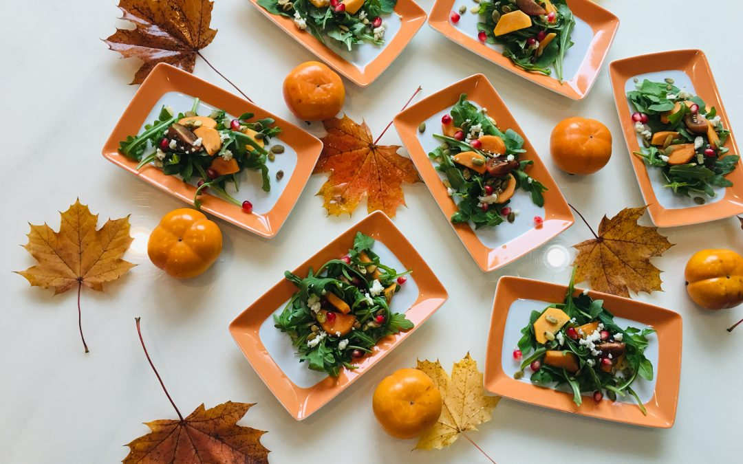 Arugula with Persimmon Salad