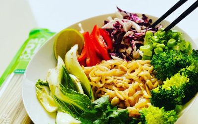 Veggie Bowl with Pad Thai Noodles
