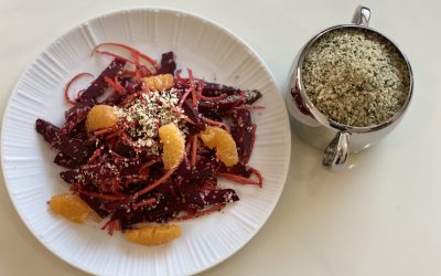 Beetroot Salad with Organic Hemp Seeds