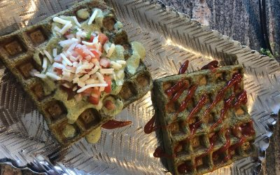 Lentil Waffles by Rupal and Rhea Kothari
