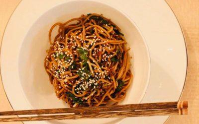 Garlic Sesame Noodles by Rebecca Simonian