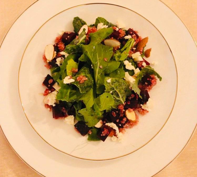 Warm Beetroot and Quinoa Salad by Rebecca Simonian