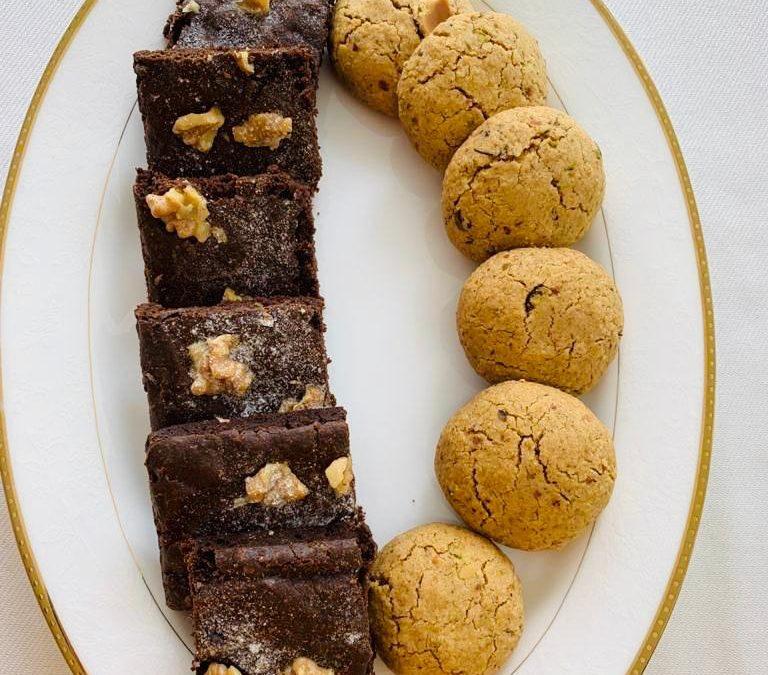 Oatmeal Cookies and Fudge Brownies by Varshita Dhoka