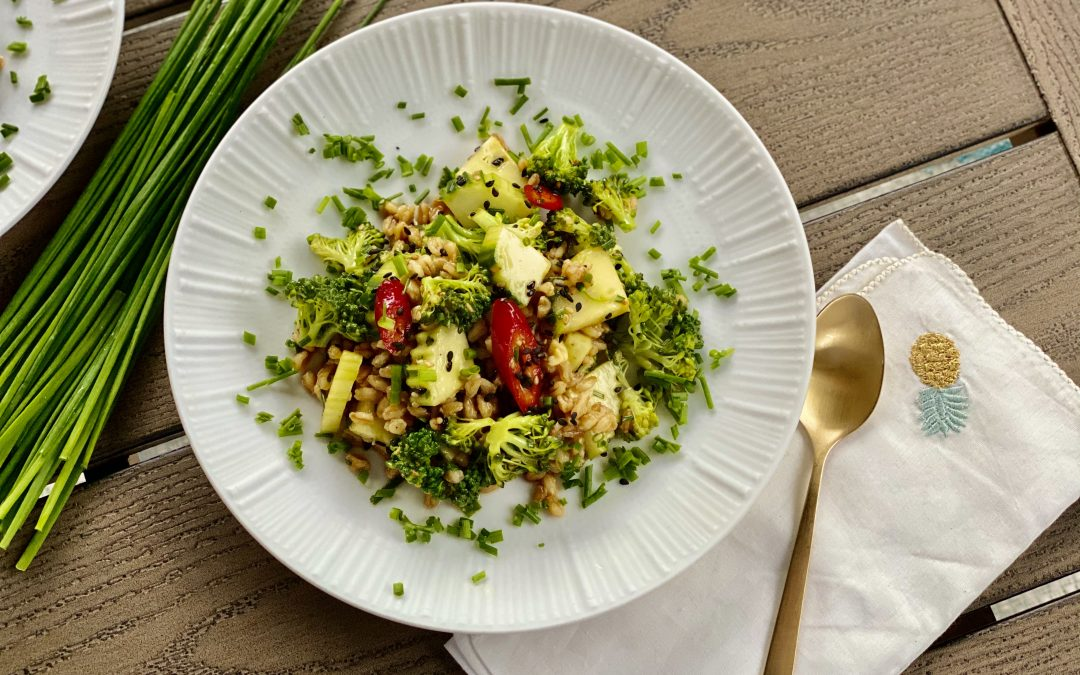 Spicy Asian Broccoli with Farro
